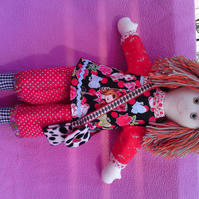 Hand made rag doll Angelica