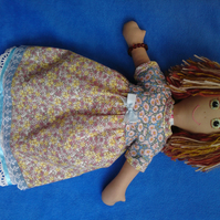Hand made rag doll Abi