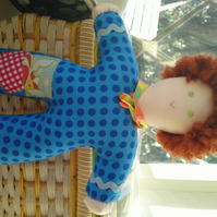 Hand made Pipsqueak Patchie rag doll Dan