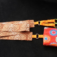 Hand made 'sewing scarf' scissor holder and needle case