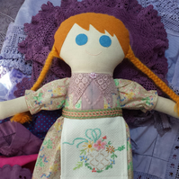 Hand made rag doll Mabel