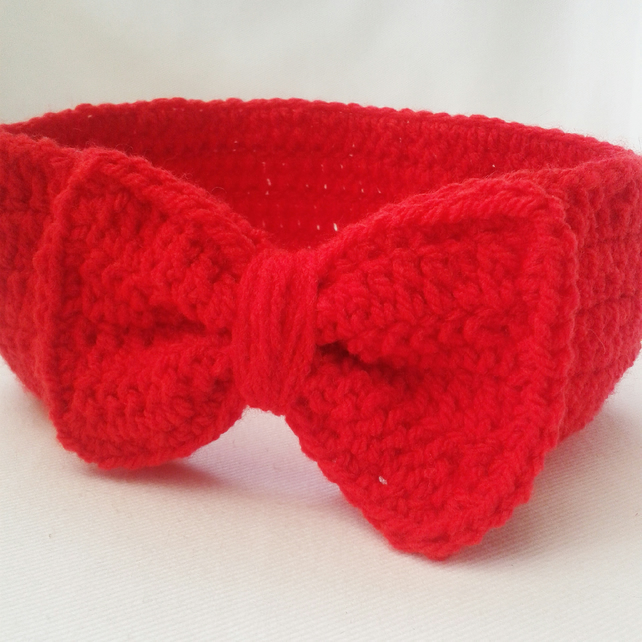 6-12 months baby girl headband, baby gift, girls hair accessories, red headband