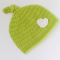 Newborn 0-3 months green hat, gift for baby,   photo prop