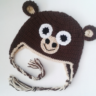 6-12 months monkey baby hat. Great photo prop or gift for babies and children!