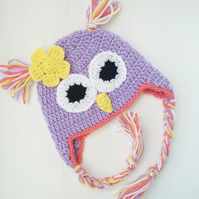baby girl, newborn hat, 0-3 months, owl hat, baby gifts, baby shower gifts,