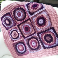 Baby girl blanket, purple crochet blanket, baby girl gift, newborn gift,