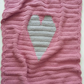 Baby girls blanket, gifts for babies, pink baby blanket, heart blanket, nursery