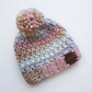 1-2 years Pom Pom hat, girls winter hat, gifts for girls, toddler hat, crochet
