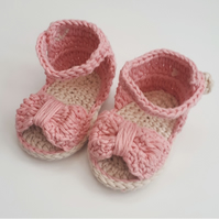 Baby girl booties, cotton booties, baby sandals, baby girl sandals, baby shoes