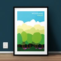 Woodland Walks A4 Giclée Print