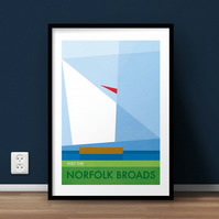 Visit The Norfolk Broads A4 Giclée Print