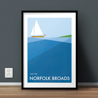 Norfolk River Cruiser A4 Giclée Print