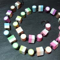 Dolly Mixture Kitsch Polymer Clay Necklace
