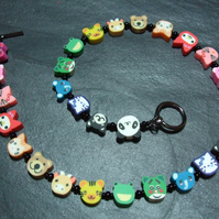 Animal Magic Collection Rainbow Zoo Kitsch Polymer Clay Child's Necklace 15 inch