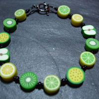 Tutti Frutti Collection Lime Tango Kitsch Polymer Clay Bracelet