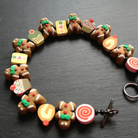 Gingerbread Men Bracelet