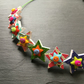 Button Necklace Rainbow Stars