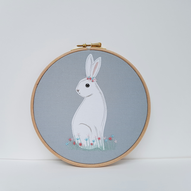 White Rabbit Nursery Art
