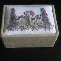 Lovely mini embroidered jewellery or gift box