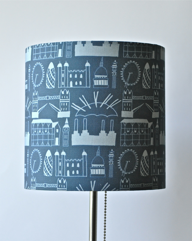 Hand-Made London Print Lampshade