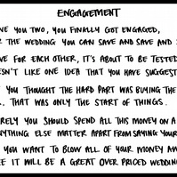 Sarcastic Engagement Card