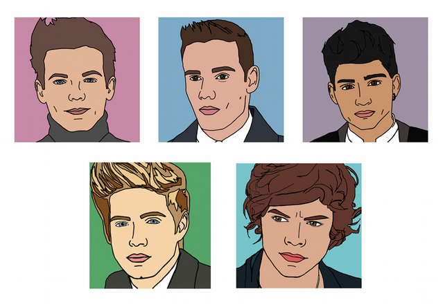 One Direction Set of Greetings Cards