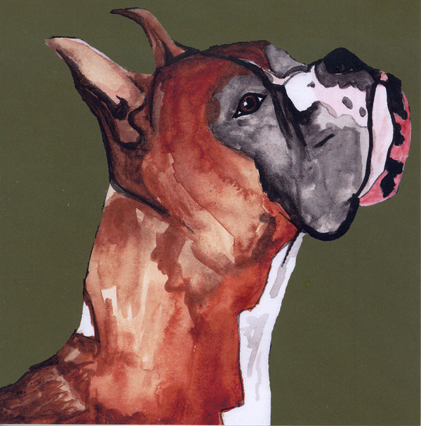 Boxer Dog Card
