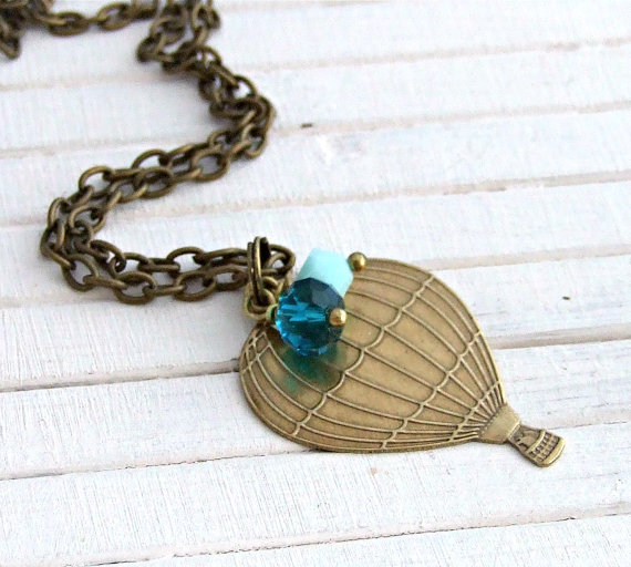 Up up and away ... Hot Air Balloon Necklace