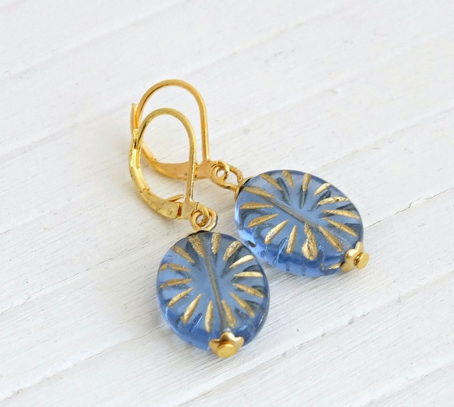 Blue Starburst Earrings