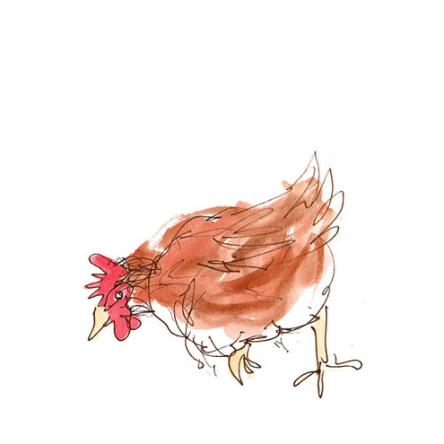 Chickens II Greetings Card