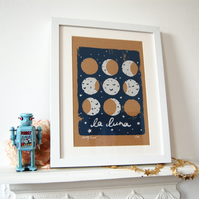 'La Luna' Screen Print