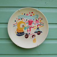 Baby Birth Plate - Circus themed