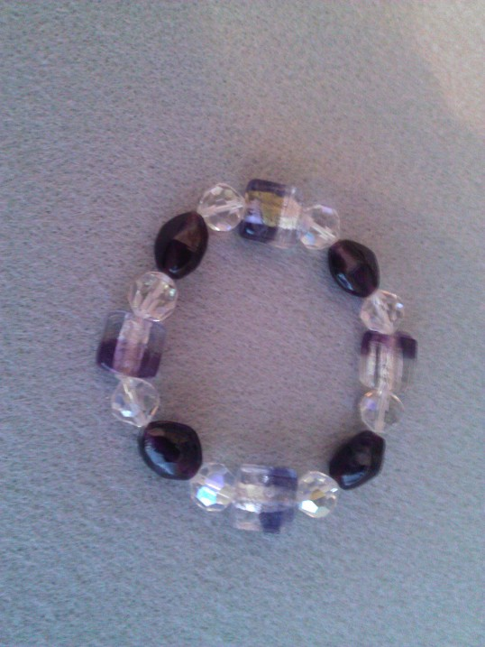 Elasticated  Bracelet - Blackberry Ice