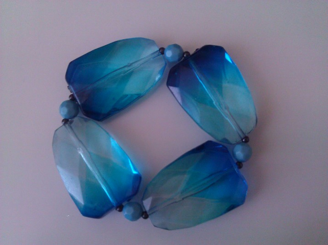 Elasticated  Bracelet - Ocean Jewel