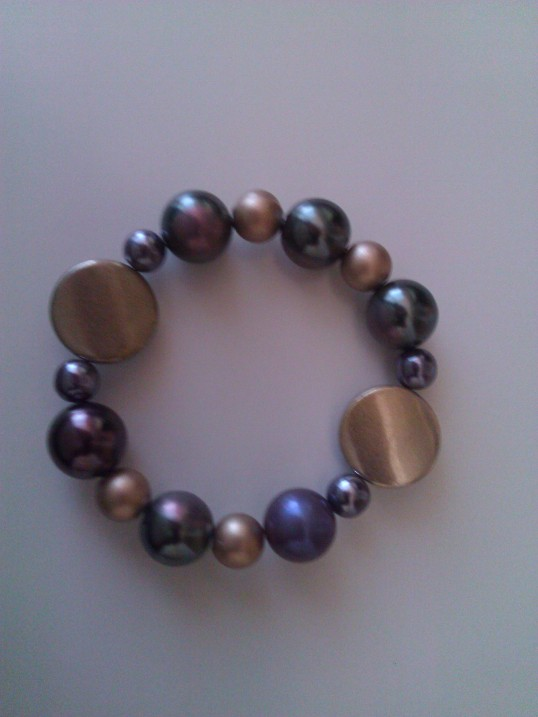 Elasticated  Bracelet - Heather Mist