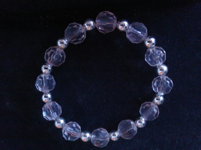 Elasticated  Bracelet - Crystal Rain