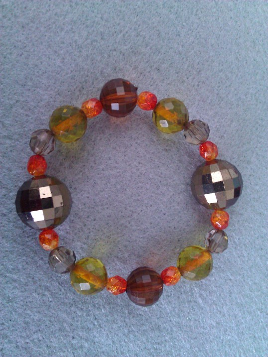 Elasticated  Bracelet - Barley Sugar Disco