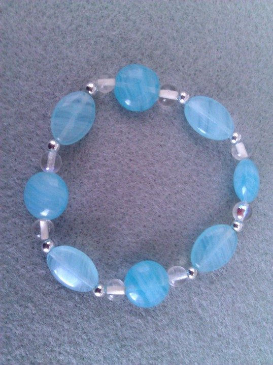 Elasticated  Bracelet - Crystal Pool
