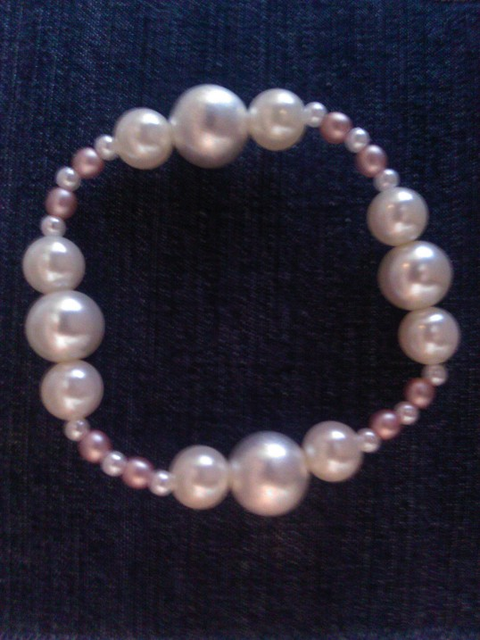 Elasticated  Bracelet - Pearly Princess