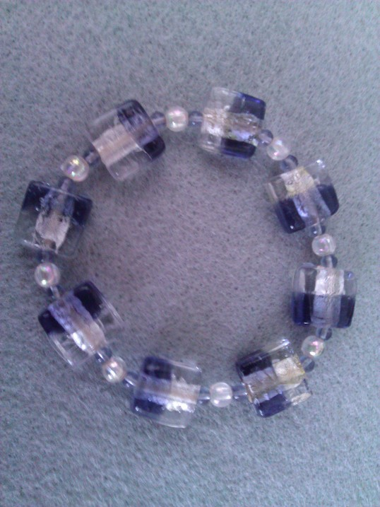Elasticated  Bracelet - Crystal Ice