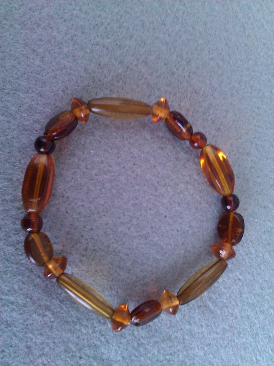 Elasticated  Bracelet - Caramel Crunch