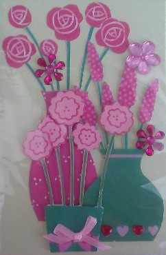 Vases of Flowers Card
