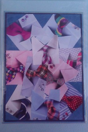 Shirts & Ties Collage Card