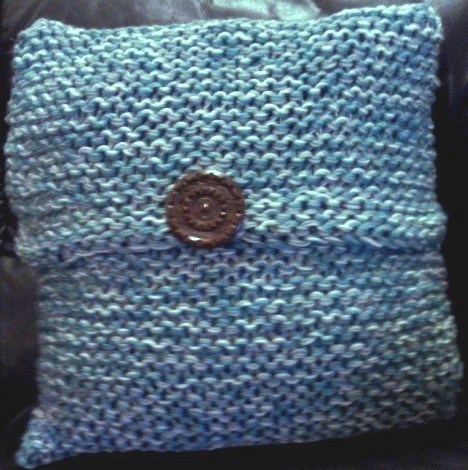 Chunky Hand Knitted Cushion