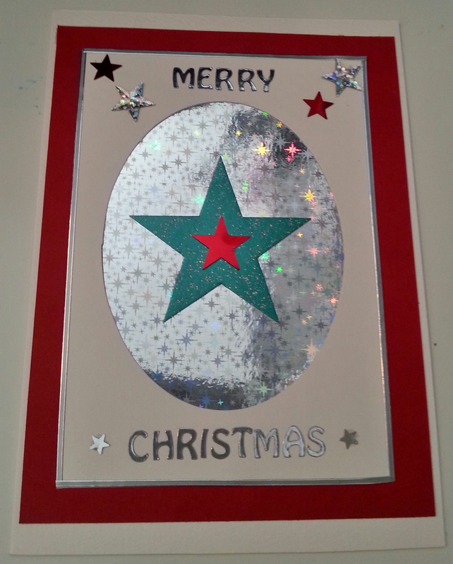 Big Green Star - Merry Christmas Card
