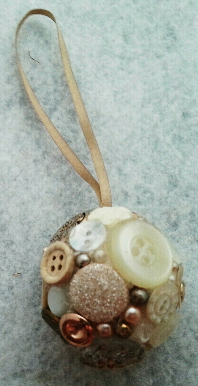 Vintage Button Bauble