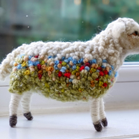Needle Felted & Embroidered sheep