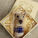 Needle Felted Greyound Brooch