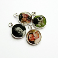 Personalised Custom Photo Charm for Bracelet or Necklace, Keepsake Gift
