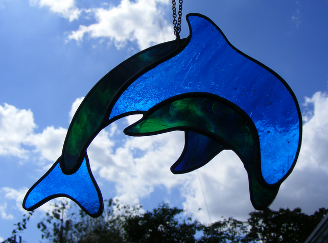 Stained Glass Dolphin Folksy